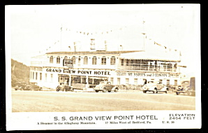 1930s Rppc Grand View Point Ship Hotel, Bedford Pa