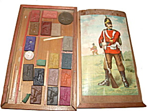 Early 1900s European Soldier Childrens Paint Box /paint