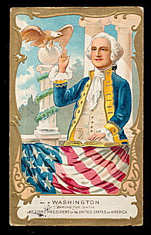 George Washington Patriotic Taking Path 1908 Postcard (Image1)