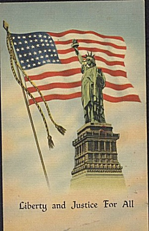 'Liberty & Justice for All' Patriotic Postcard (Image1)