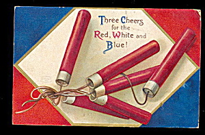1908 July 4th Ellen Clapsaddle Fireworks Postcard (Image1)