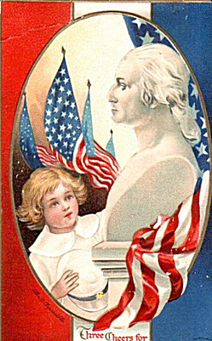 1913 Ellen Clapsaddle George Washington Postcard (Image1)