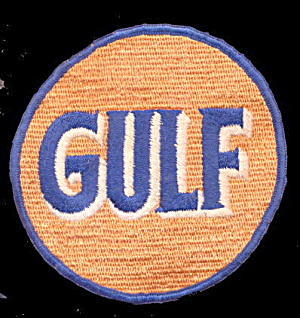 Vintage Gulf Gas Oil 1950-1960 Uniform Logo Patch (Image1)