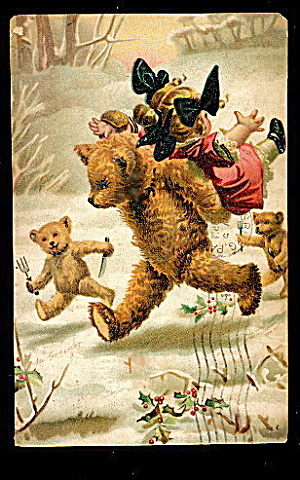 1908 Signed Magnus Greiner Teddy Bear Postcard