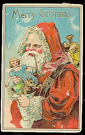 Santa Claus in Robe /Father Christmas 1912 Postcard (Image1)