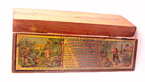 Early 1900s Wooden Germany Childrens Pencil Case (Image1)