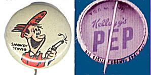 1945 Kelloggs Smokey Stover; PEP Pinback (Image1)
