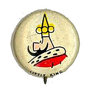 1945 Kelloggs Little King PEP Pinback (Image1)