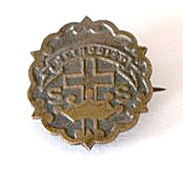 Early 1900s Bronze Methodist Church Pin (Image1)
