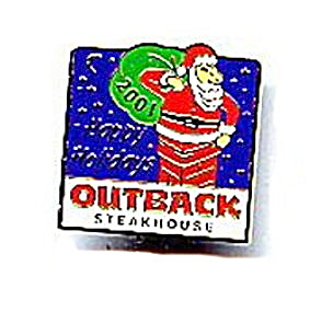 2001 Outback Steakhouse Santa Claus Pin Pinback (Image1)