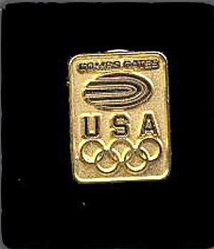 1984 Combs Gates Olympics Pinback (Image1)