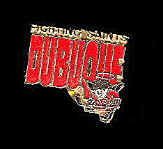 Vintage Enamel Dubuque Fighting Saints Pinback (Image1)
