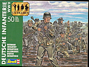 1990 Revell German Infantry Plastic Soldiers (Image1)