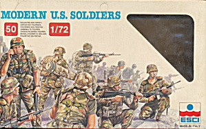 "Esci ""modern Us Soldiers"" Plastic Soldiers"