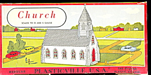 Vintage Plasticville Church 1600 Kit In Orig Box