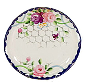 Lovely Hand-painted Japan Handled Flower Plate