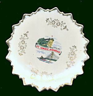 2 1950s St. Ignace Michigan Small Plates (Image1)