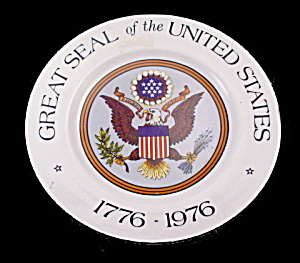 1776 - 1976 Great Seal Of The United States Plate