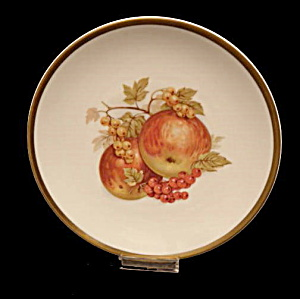 "Bavaria 7"" Germany Golden Crown Plate W Apples"