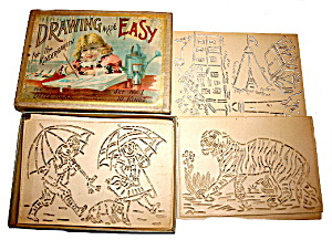 Early 1900s McLoughlin Bros Drawing Made Easy Stencils (Image1)
