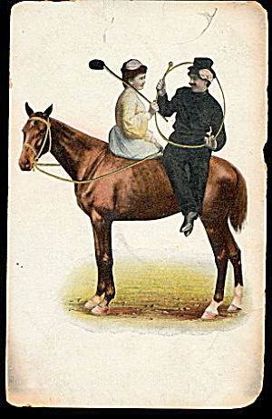 1908 Child Polo Player on Horse Postcard (Image1)