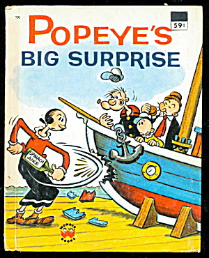 "1976 ""popeyes Big Surprise"" Wonder Book"