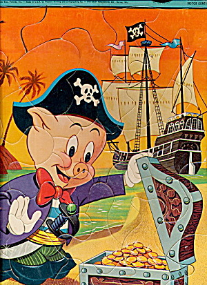 1965 Porky Pig the Pirate Whitman Tray Puzzle (Image1)