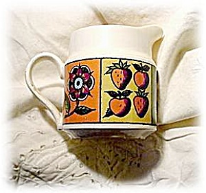 1964 Homer Laughlin Flower & Fruit Creamer