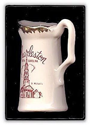 Charleston, SC, Pitcher/Ewer Souvenir Early Piece (Image1)