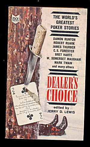 'dealer's Choice' 1962 Poker Stories Paperback