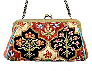 Vintage Isabella Fiore Beaded Floral Hand Bag