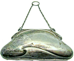 Old Vintage Sterling Coin Purse