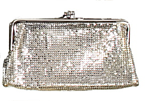 1920s Whiting Davis Silver Mesh Clutch Bag