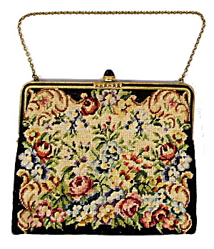 Vintage Petit-roses Embroidered Purse/bag