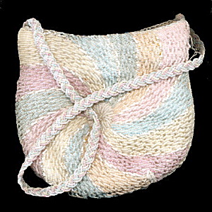 Vintage Magid Pastel Glass Seed Bead Purse