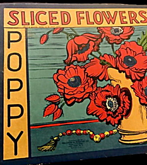 Selchow Poppy Sectional Sliced Flowers Puzzle In Box