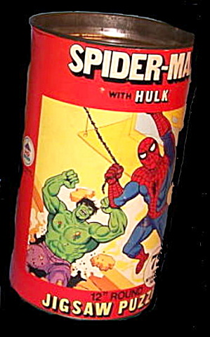1974 Spider-man Vs Hulk Canister Puzzle
