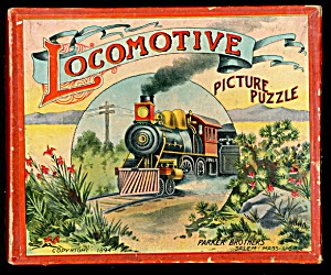 1894 Locomotive Picture Parker Brothers Puzzle