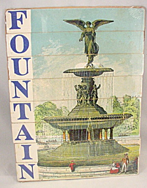 Early 1900s Wooden 'FOUNTAIN' Letter Strip Puzzle (Image1)