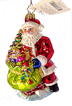 Christopher Radko 'deluxe Delivery' Santa Ornament