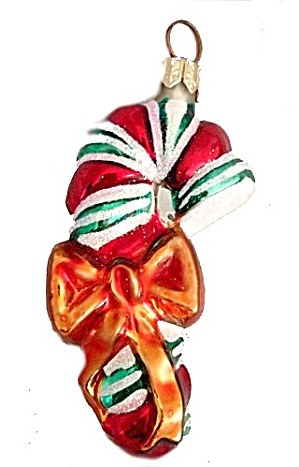 Christopher Radko Candy Cane Ornament In Box
