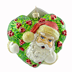 Christopher Radko Holly Jolly Claus Santa Ornament