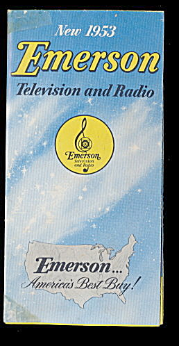 1953 Emerson Television & Radio Advertising Pamphlet (Image1)