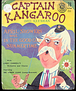 1958 Captain Kangaroo 78 RPM Record with Sleeve (Image1)