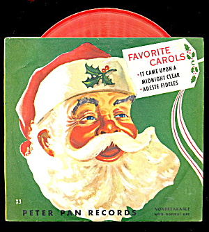 1953 Christmas 'favorite Carols' 45 Rpm Record
