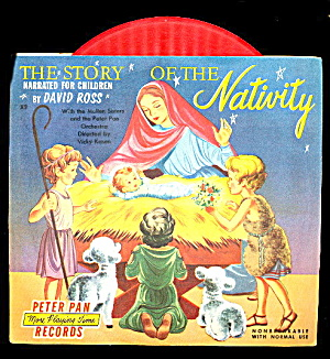 1953 'story Of The Nativity' 45 Rpm Record