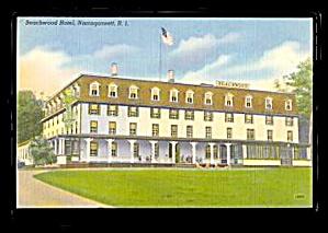 1930s Narragansett, RI, Beachwood Hotel Postcard (Image1)