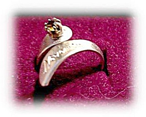 Lovely November Topaz Goldplate Ring (Image1)