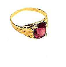 14k Gold & Amethyst Ladies Ring - Vintage (Image1)