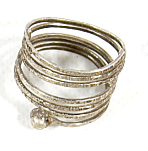 Early .925 Sterling Silver Twisted Band Design Ring